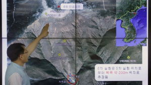Em sydkoreansk seismolog visade var det inträffat skalv vid den nordkoreanska provsprängningsanläggningen Punngye-ri den 3 september 2017.