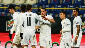 Berardi och Belotti målskyttar för Italien.