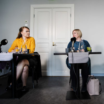 Kuvassa on käynnissä Keskustan puheenjohtajaehdokkaiden tentti Helsingissä elokuussa 2020.
