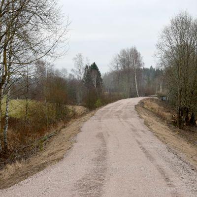 gångväg i landskap