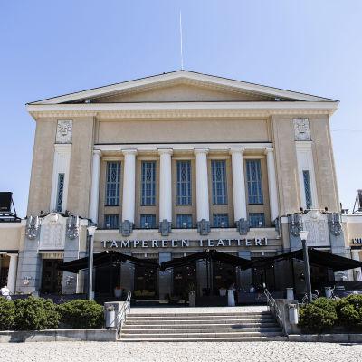 Kuvassa on Tampereen teatteri kesäkuussa 2020.