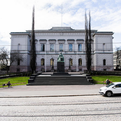 Kuvassa on Suomen Pankki.