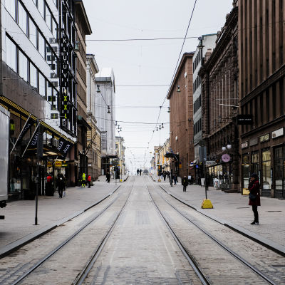 Alexandersgatan i Helsingfors.
