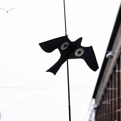 Kuvassa on haukkaleija Helsingin Keskuskadulla heinäkuussa 2020.