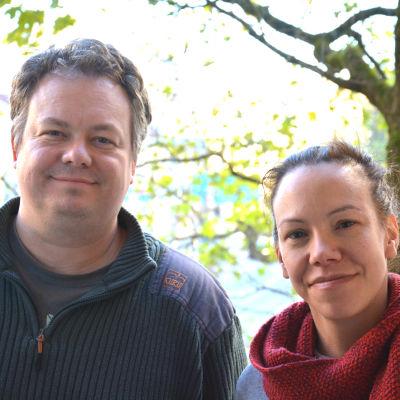 Matias Dahlbäck och Petra Lindblad.
