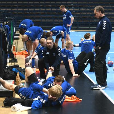Finlands handbollslandslag drabbades av skador inför EM-kvalmatchen mot Bosnien-Hercegovina.