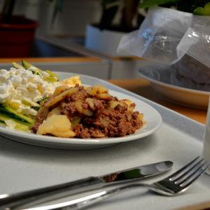 potatis och malet köttlåda