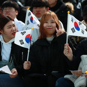 Publik vid de paralympiska spelen i Pyeongchang.