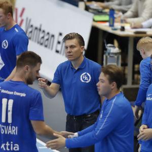 Atlas tränare Toni Kallio.