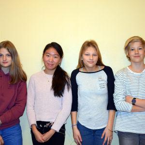 Tara Kylén, Ada-Linn Lundell, Diana Sandström och Tor Lundqvist.