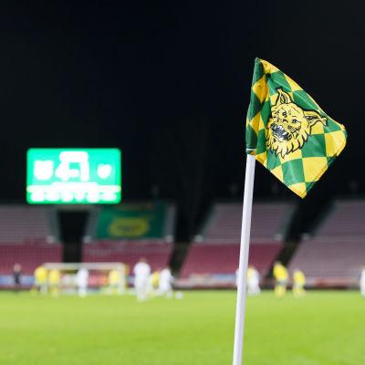 Hörnflagga på Ratina Stadion.