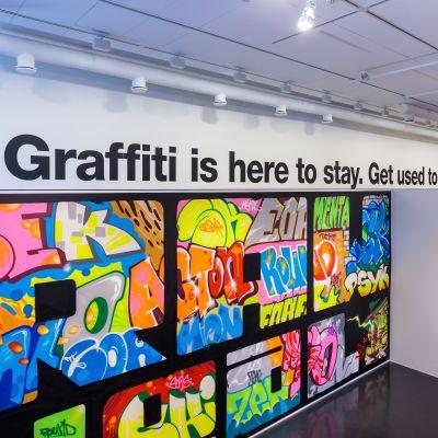 Graffiti-utställning på Kervo konstmuseum