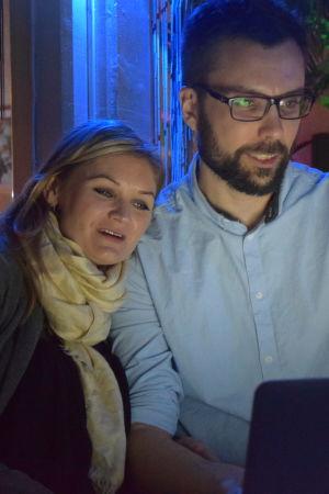 Johan Kvarnström och Katarina Backas.