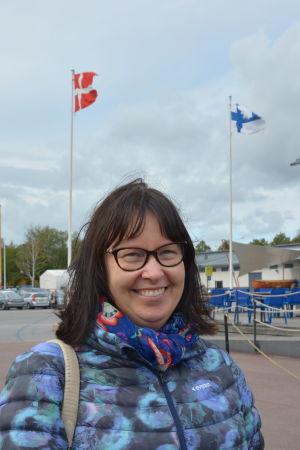 En kvinna vid Forum Marinum i Åbo