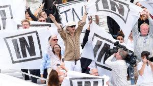Rockmusikern Bob Geldof deltar i kampanjen på bremainsidan