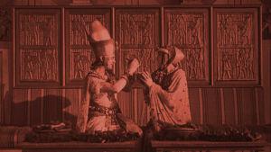 Harry Liedtke ja Dagny Servaes elokuvassa Faaraon vaimo (1922)
