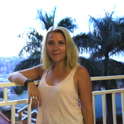 Liselott Lindström på reportageresa i Etiopien