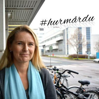 Marina Maatela utanför Radiohuset