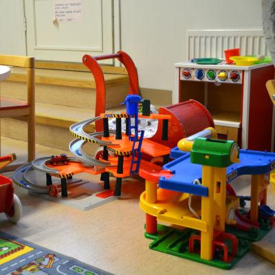 Leksaker på Fredsgatans rådgivningsmottagning i Borgå