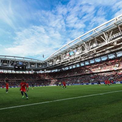 Bild på stadion från matchen Chile–Australien i Moskva.