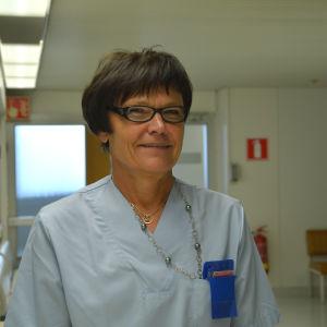 Avdelningsskötare Christel Lindqvist.