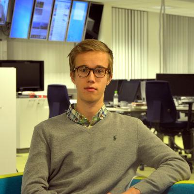 Johannes Borg, ordförande för ungdomsfullmäktige i Vasa.