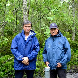 Professor Matti Räsänen och specialforskare Peter Edén