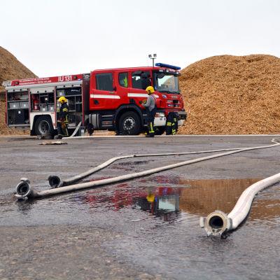 Brand på Domargårds avstjälpningsplats