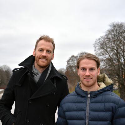 Henrik Tallinder och Erik Thorell, Åbo, december 2016.