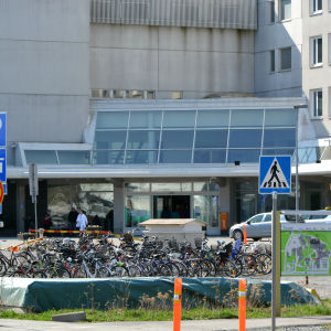 Huvudingången för Vasa centralsjukhus