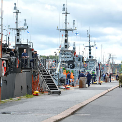 Stridsfartyg i Åbo.