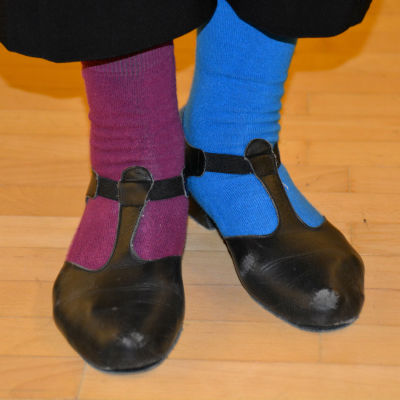 Regina Forsstens skor vid Seniorsvängen-evenemanget.