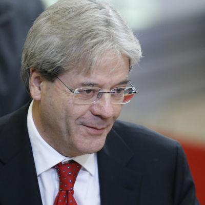 Italiens utrikesminister Paolo Gentiloni i Bryssel den 14 december 2015.