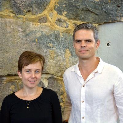 Annette Ström och Larson Österberg diskuterade kulturbevakning i Västnyland.