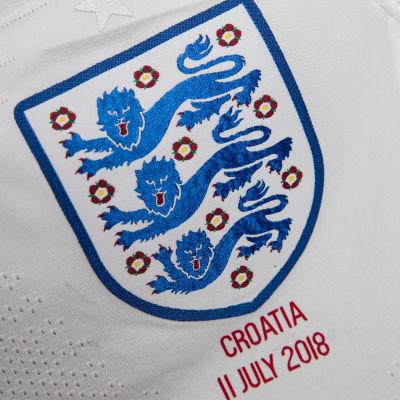 Bild på Englands tröja i semifinalen mot Kroatien.