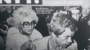 Monica Aspelunds och Aarno Raninens medverkan i kapardramat skapade rubriker.