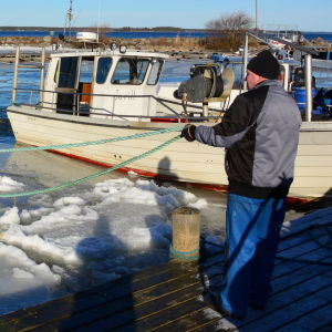 Sjösättning av fiskebåtar