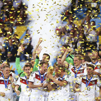 Tyskland firar VM-guld 2014