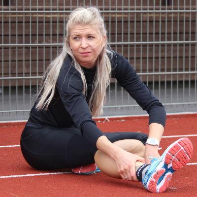 Sara Kuivisto tränar på Centralplan i Borgå.