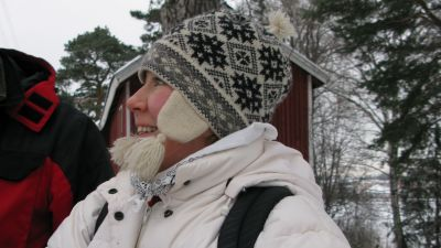 Heidi Kinnunen ja fretti