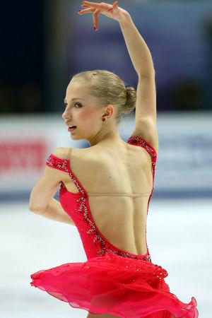 Juulia Turkkila på isen i konståknings-VM 2011.
