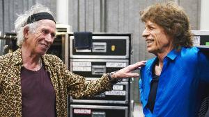 Keith Richards ja Mick Jagger dokumenttielokuvassa Olé, Olé, Olé! (2016).