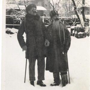 Akseli Gallen-Kallela och Sigurd Wettenhovi-Aspa i Borgå 1922
