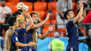 Japans spelare under VM 2018.