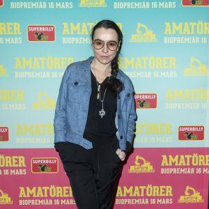 Lo Kauppi på galapremiären av filmen Amatörer på Biografen Skandia