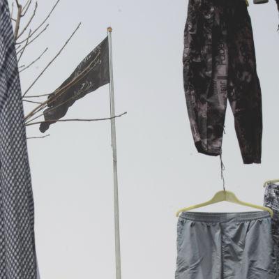 Jihadistgruppen al-Nusras svarta flagga.