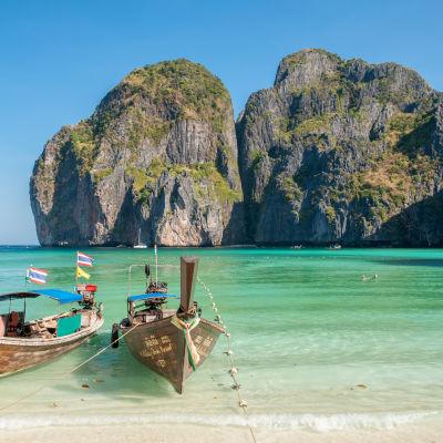 Thailändska ön Maya Bay.