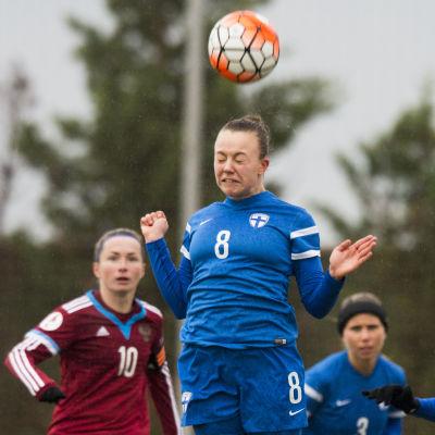 Olga Ahtinen, Finland-Ryssland, januari 2017.