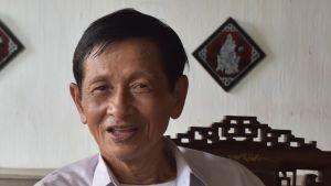 Chanthanet Khommasath har levt i närheten av Mekong hela sitt liv. Han ställer sig pessimistiskt till flodens framtid.