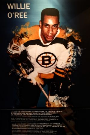 Ishockeyspelaren Willie O'Ree valdes in i Hockey Hall of Fame år 2018.